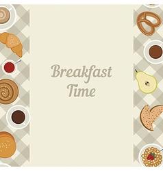Breakfast time vector image