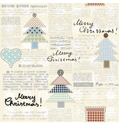 Christmas newspaper background vector image vector image