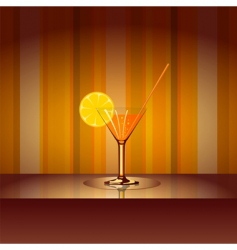cocktail with background vector image vector image