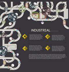 industrial mechanical template vector image vector image