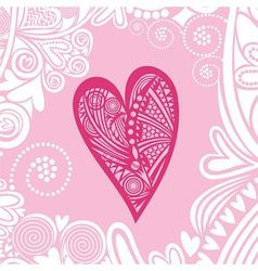 Valentines day card heart pattern vector image vector image