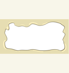 white melted chocolate frame vector image