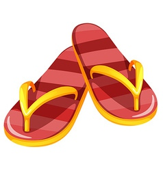 A pair of sandals vector