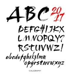 Acrylic Brush Style Hand Drawn Alphabet vector image