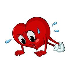 Active Cartoon Heart vector