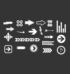 arrow icon set grey vector image