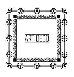 art deco frames and borders vector image