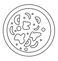 Asian hot dish icon outline style vector