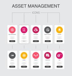 Asset management infographic 10 steps ui design vector