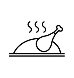Baked fried roast grilled chicken or turkey vector