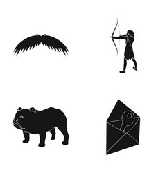 Barber history and or web icon in black style vector