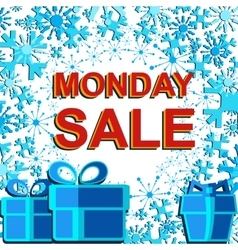 Big winter sale poster with MONDAY SALE text vector image