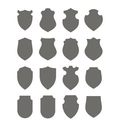 black shields set vector image