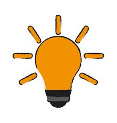 Bulb cartoon draw vector