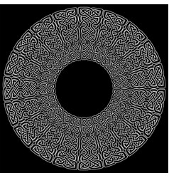 celtic mandala on black background vector image vector image