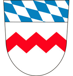 Coat of arms of dachau is a district in upper vector