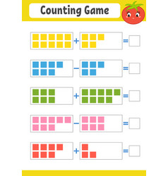 Counting game for children addition and vector