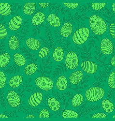 easter eggs in doodle style seamless pattern vector image