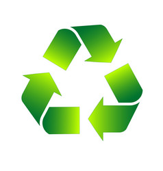 eco recycle sign icon for infographics vector image