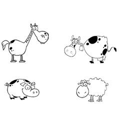 Farm animals cartoon vector image