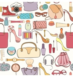 fashion cosmetic pattern vector image