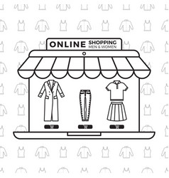 fashion online store concept design vector image