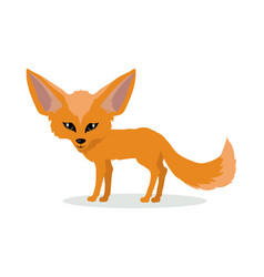 fennec fox cartoon icon in flat design vector image