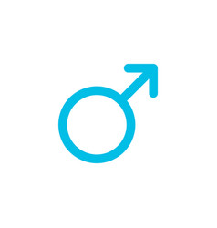 Gender male flat icon vector