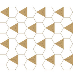 geometric seamless pattern gold background vector image