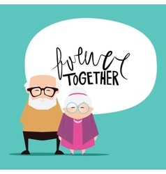 Grandparents day background vector image