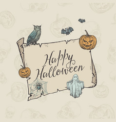 happy halloween trick or treat banner vector image