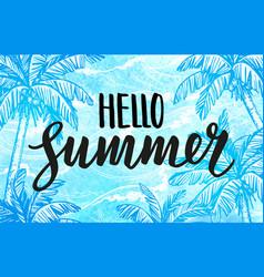 Hello summer banner template vector