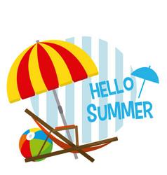 Hello summer card concept vector
