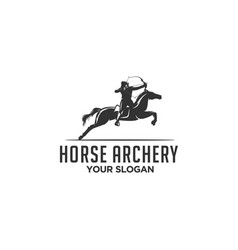 horse archery vector image