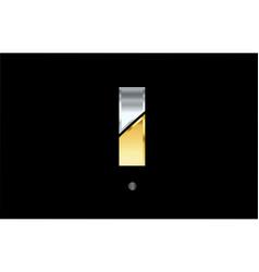 I silver gold letter alphabet logo icon design vector
