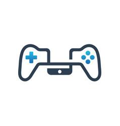 Logo design for mobile phone joystick games vector