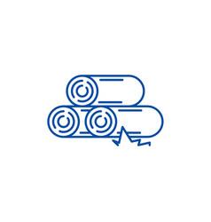 logs line icon concept logs flat symbol vector image