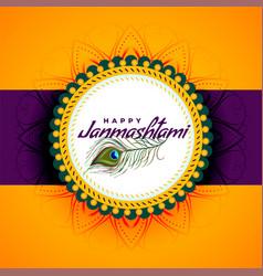 Lovely dahi janmashtami festival bright vector