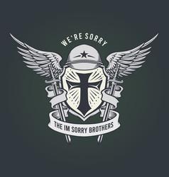 Military were sorry mascot classic emblem vector