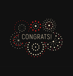 Modern greating card with congrats template magic vector