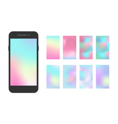 Modern smartphone app screen soft color gradient vector
