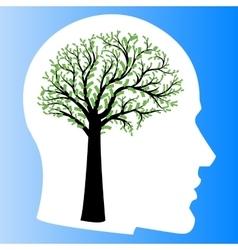 Money tree in shape of human brain vector image