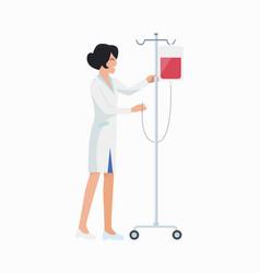 Nurse with dropper icon vector