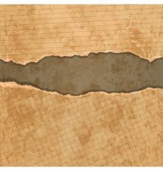 Old torn paper set vector image