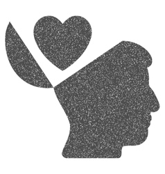 Open Mind Love Heart Grainy Texture Icon vector