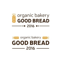 organic bakery good bread vector image
