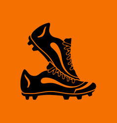 Pair soccer of boots icon vector