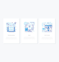 programming concept - line design style banners vector image