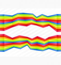 rainbow disjointed wall stripes vector image