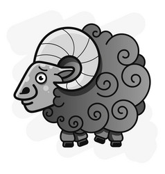 Ram with curved horns for your web design vector